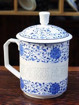 景德镇陶瓷礼品杯会议杯定做
