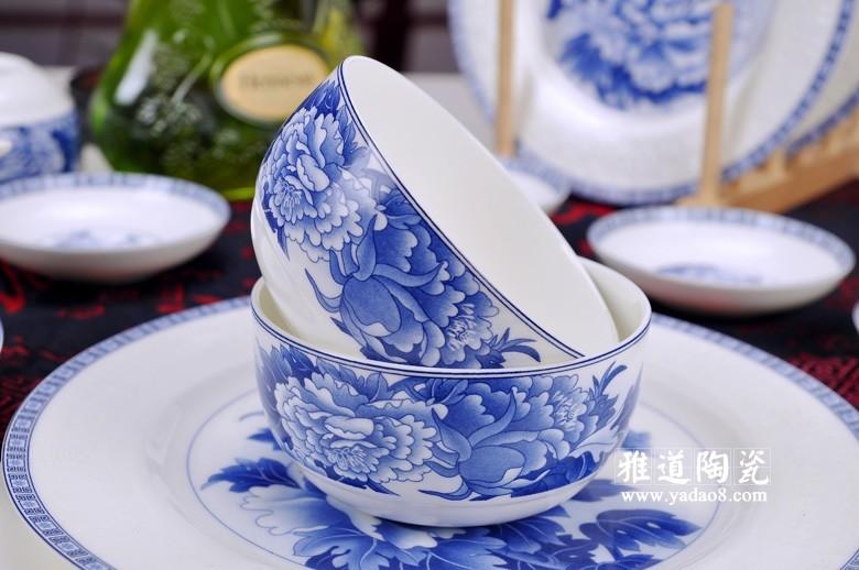 富贵吉祥青花瓷器餐具(碗)