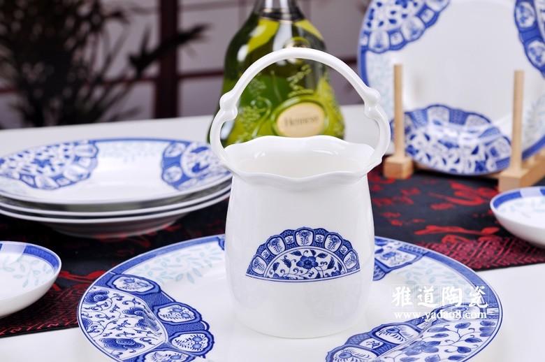 古韵青花骨瓷餐具(花篮)