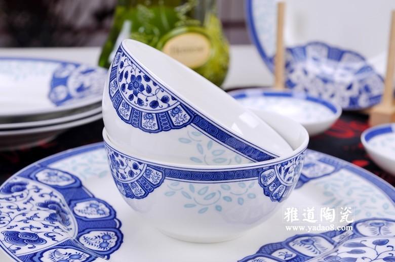 古韵青花骨瓷餐具(碗)