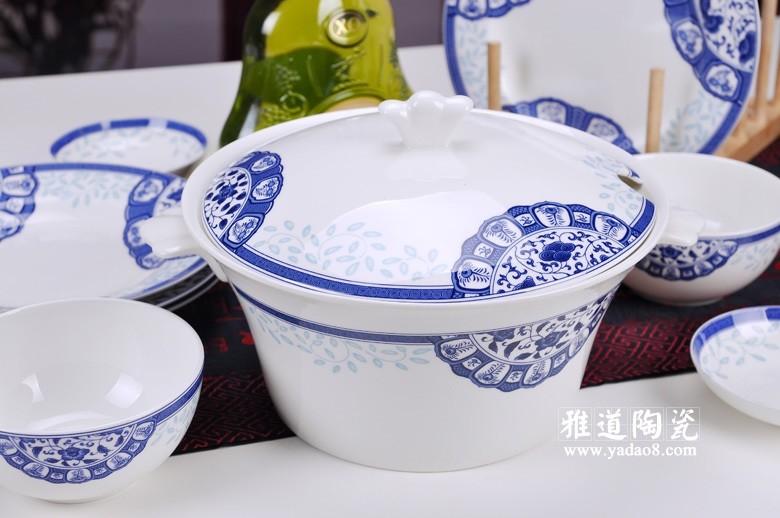 古韵青花骨瓷餐具(煲)