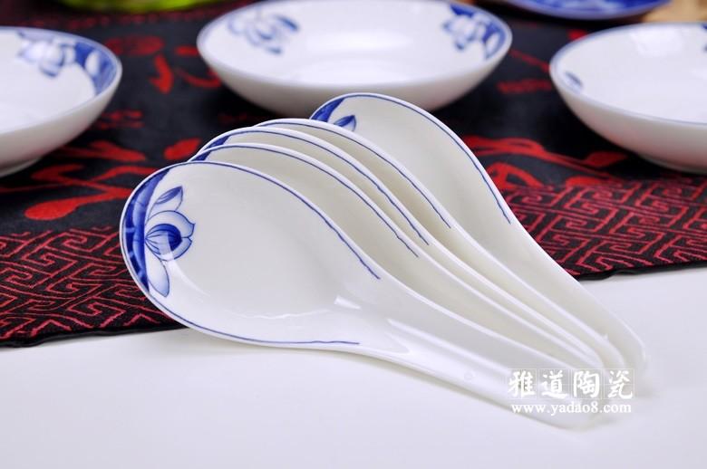 荷塘清韵青花餐具-勺子