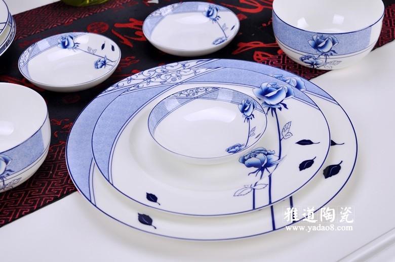 花样年华青花瓷餐具-盘子