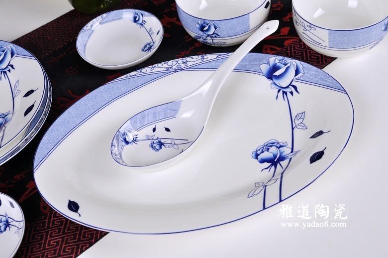 花样年华青花瓷餐具-大勺