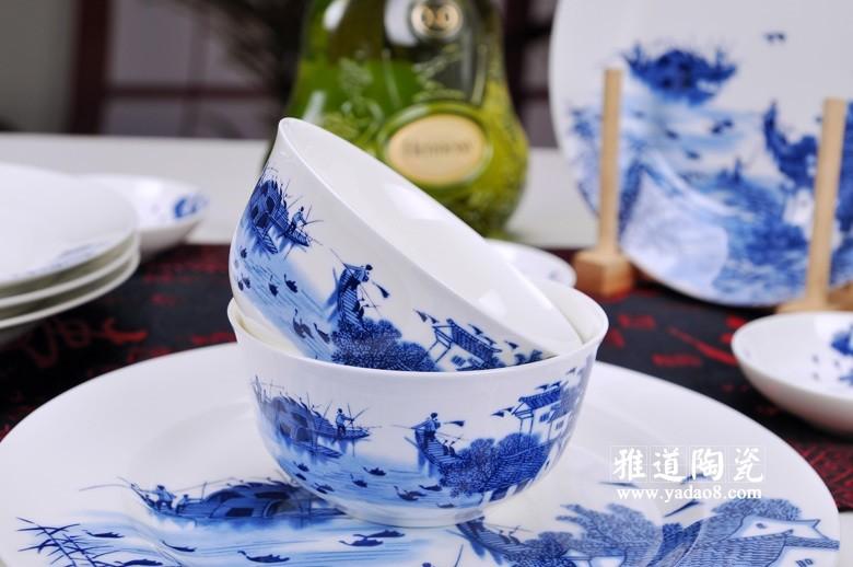 江南水乡青花瓷餐具套装-碗