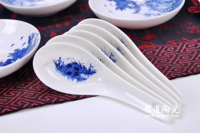 江南水乡青花瓷餐具套装-勺子