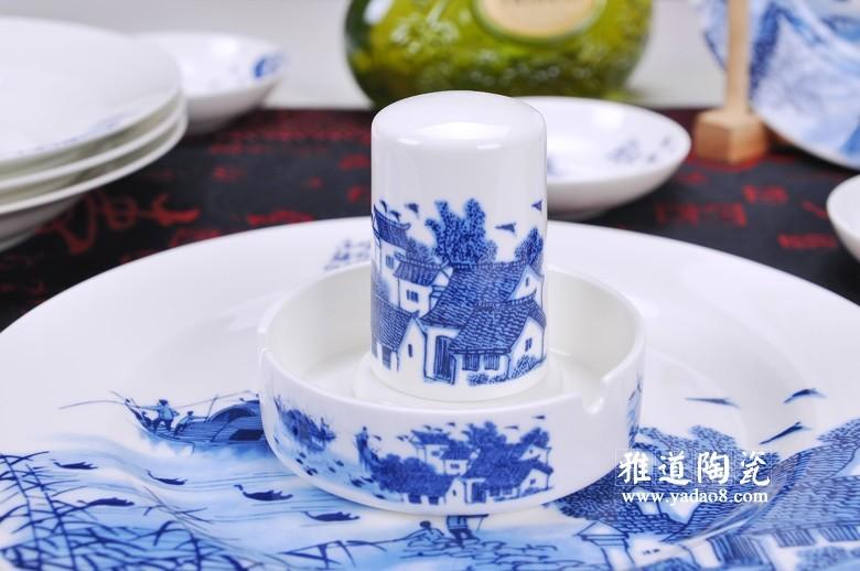 江南水乡青花瓷餐具套装-牙签筒