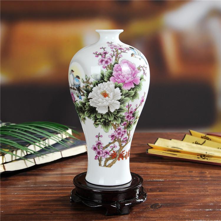 景德镇花开富贵陶瓷花瓶