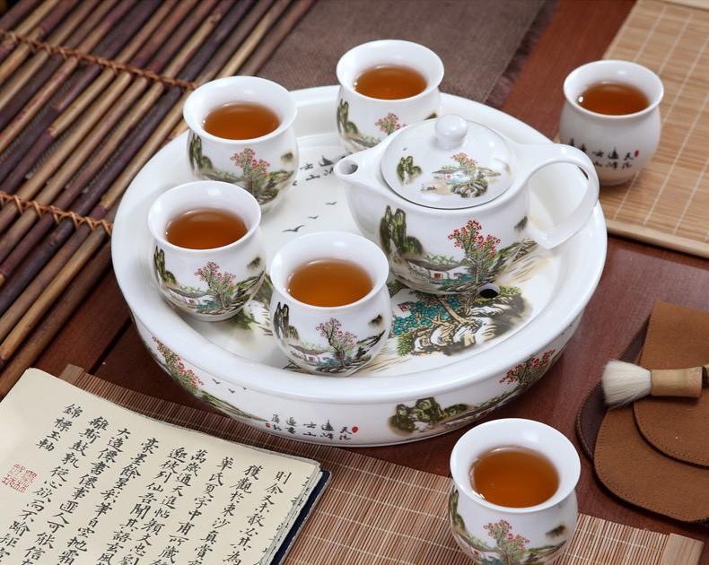 青山红树防烫陶瓷茶具套装