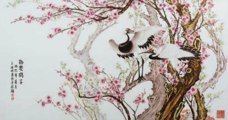梅花手绘彩铅步骤图