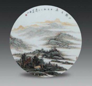 传统陶瓷山水画与现代陶瓷山水画的创作
