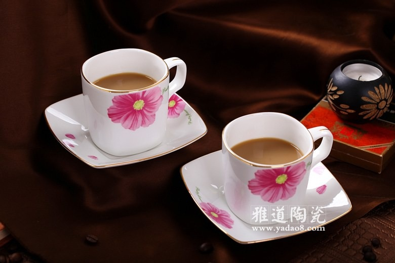 景德镇陶瓷欧式咖啡具套装木棉花开