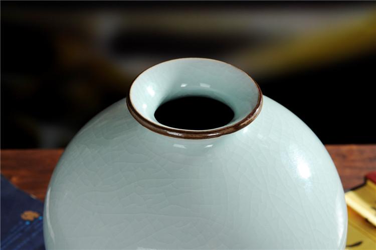 景德镇陶瓷仿古花瓶官窑裂纹釉花瓶