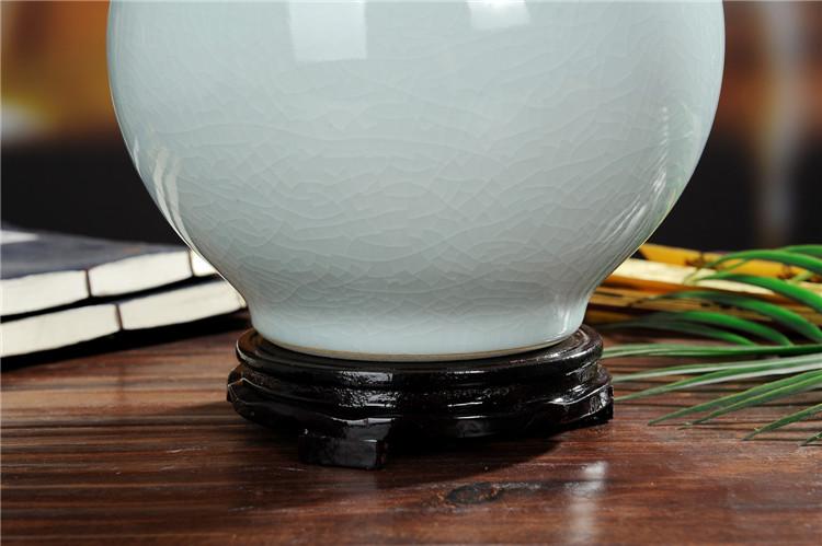景德镇陶瓷仿古花瓶官窑裂纹釉石榴瓶