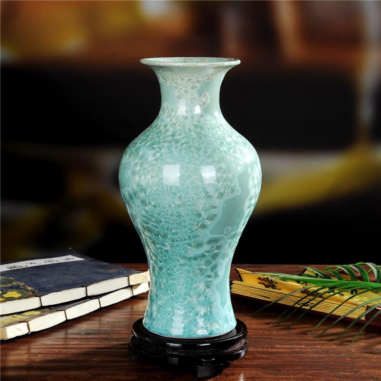 景德镇陶瓷珍珠釉陶瓷鱼尾瓶