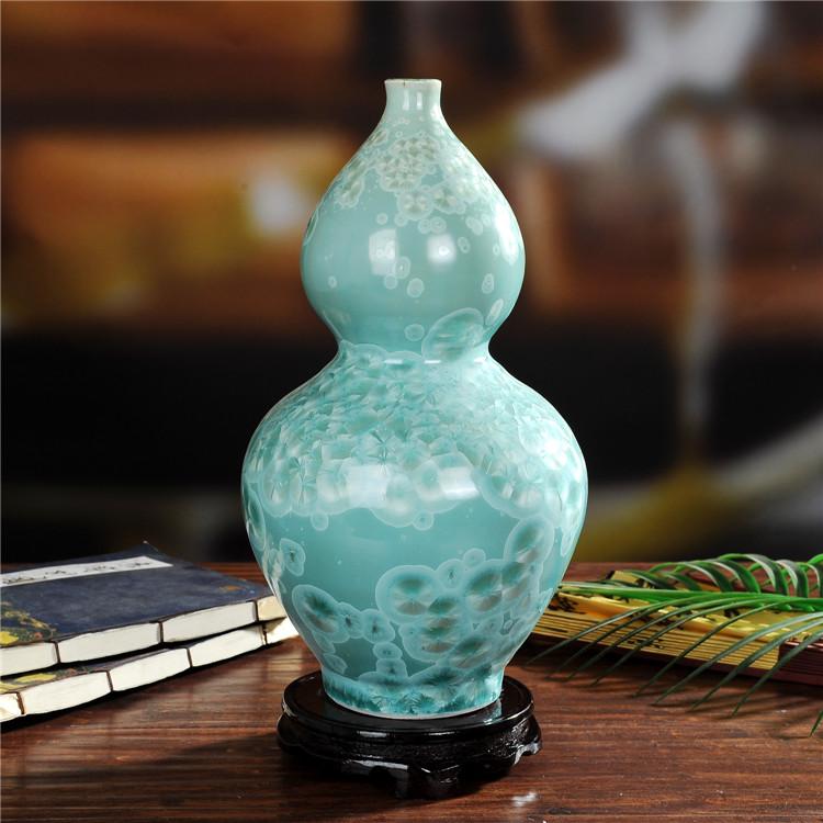 景德镇陶瓷珍珠釉陶瓷葫芦瓶