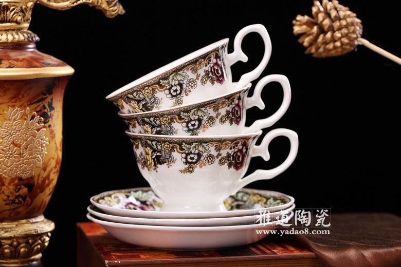 景德镇陶瓷高档英式咖啡具套装