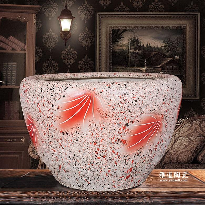 景德镇磨砂釉陶瓷储水缸
