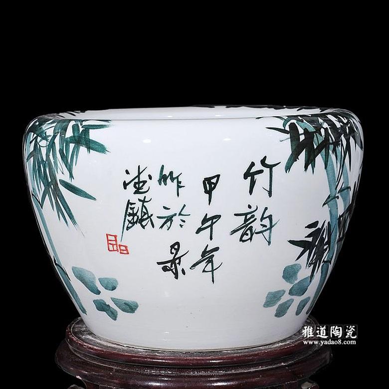 景德镇瓷器水缸手绘鱼缸四合院水缸