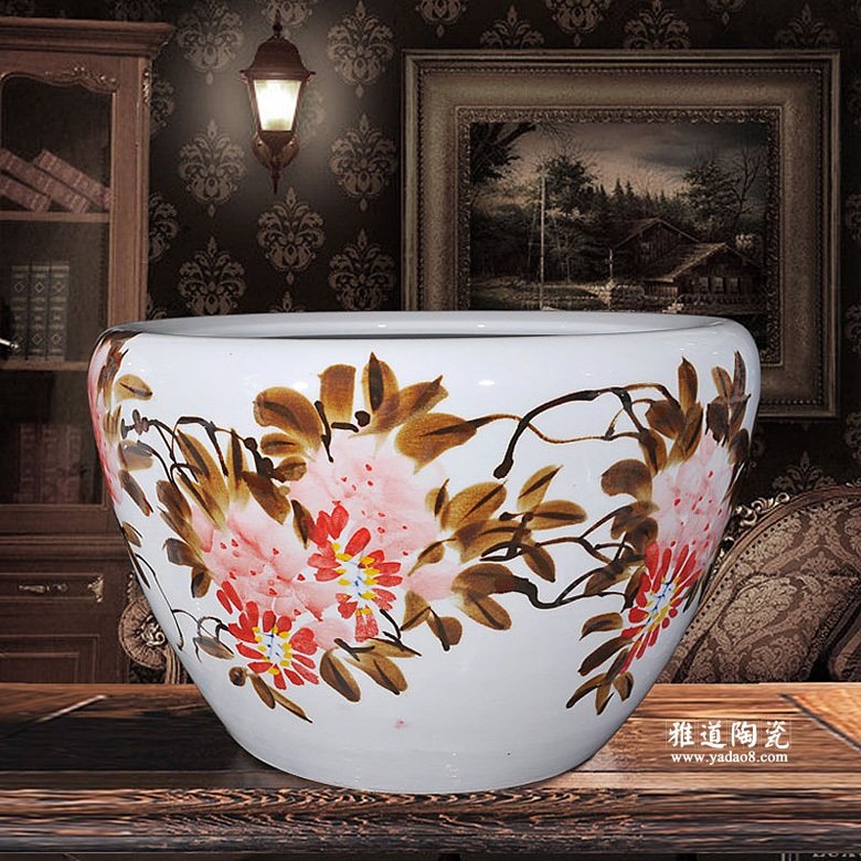 景德镇瓷器手绘大水缸