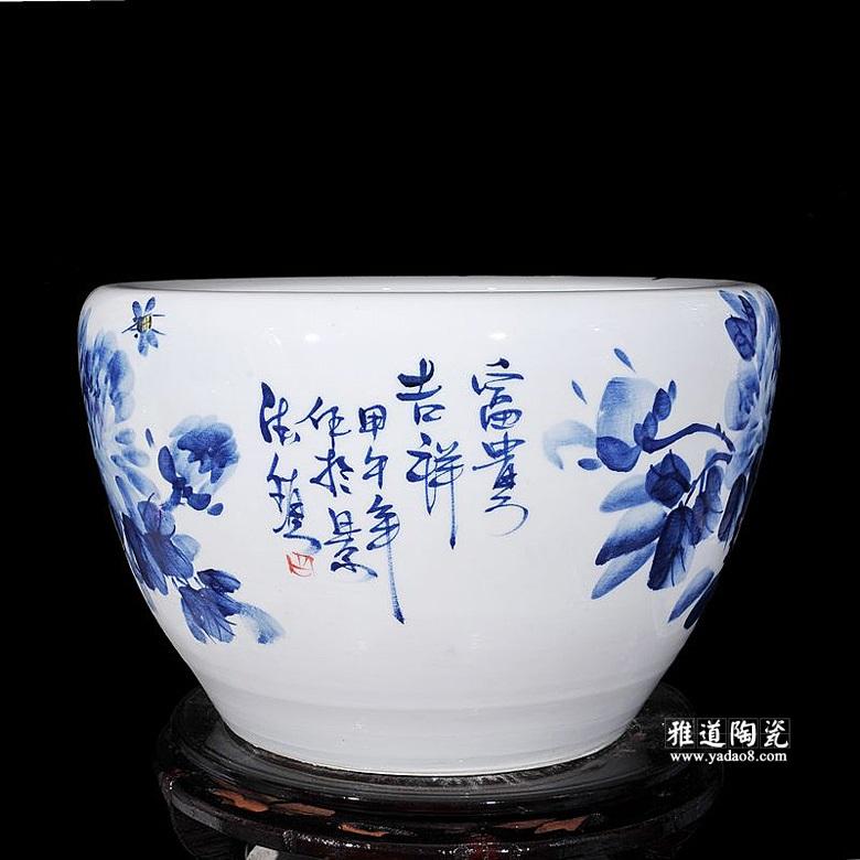 景德镇陶瓷家用水缸(富贵吉祥)