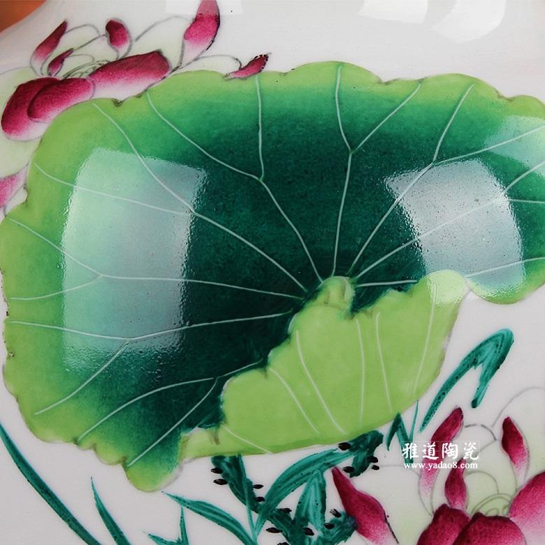 景德镇高档陶瓷花瓶-手绘陶瓷花瓶连年有余