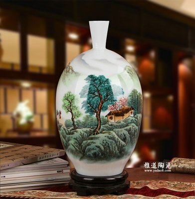 客厅装饰花瓶-景德镇陶瓷名家手绘花瓶