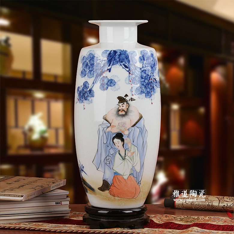 手绘高档陶瓷花瓶