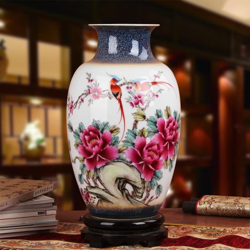 釉上彩陶瓷花瓶
