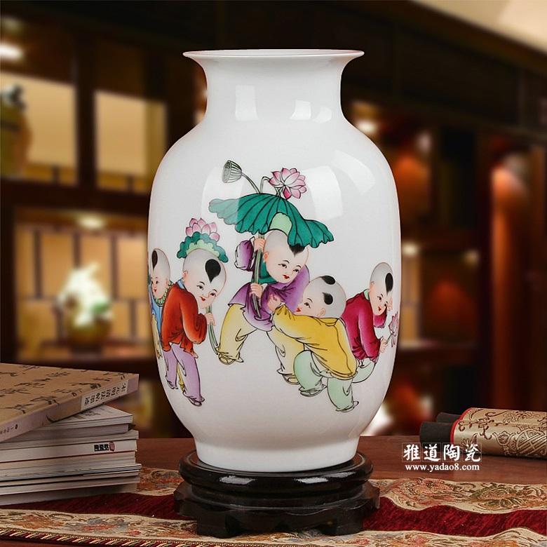景德镇室内装饰彩绘花瓶