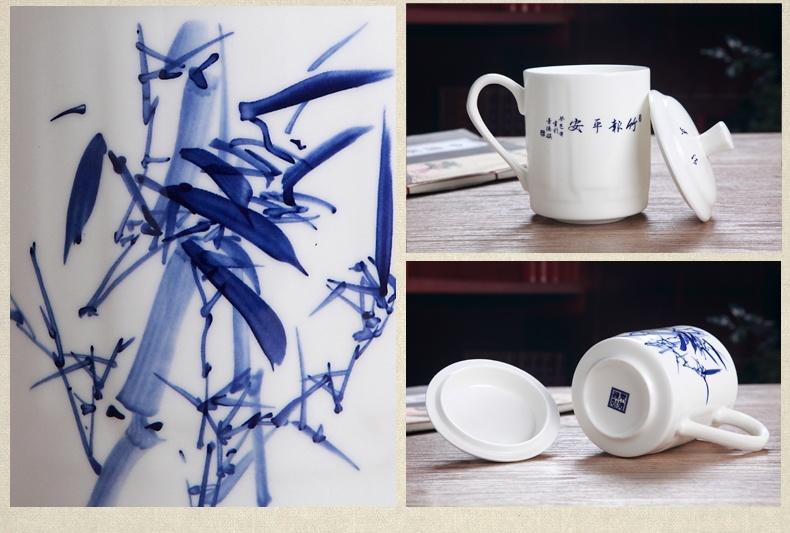 景德镇青花陶瓷茶杯定做