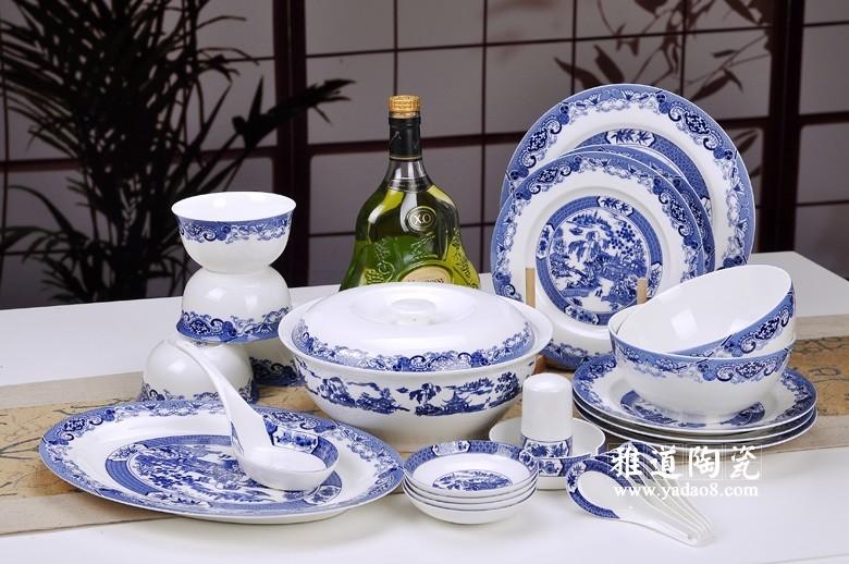 日用陶瓷餐具青花园林