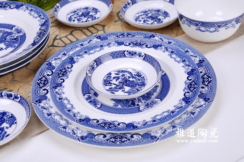 日用陶瓷餐具 青花园林