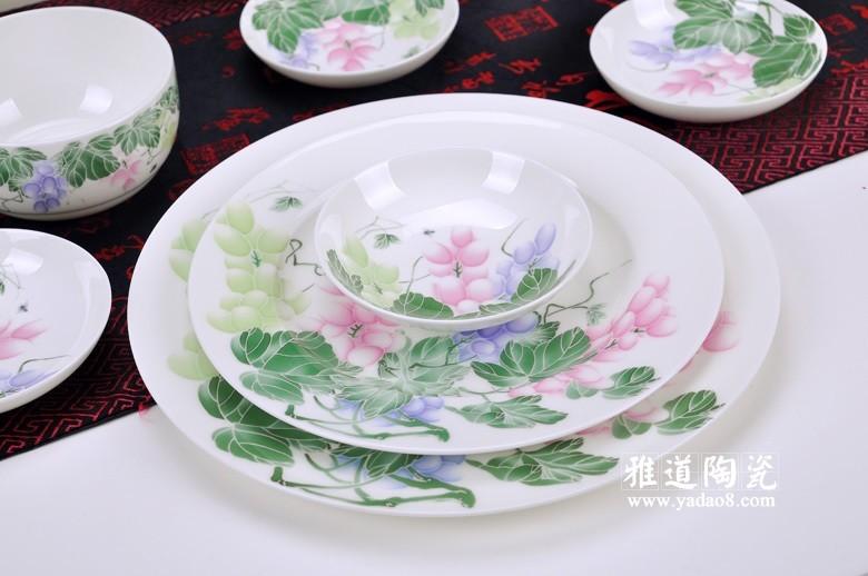 景德镇骨质瓷餐具套装