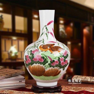 家用陶瓷花瓶 花瓶摆设工艺品 安居乐业