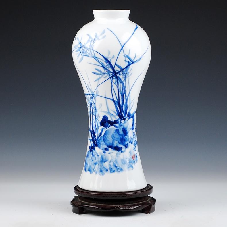 青花瓷花瓶价格_景德镇陶瓷青花手绘写意花瓶 创意花器-雅道陶瓷网