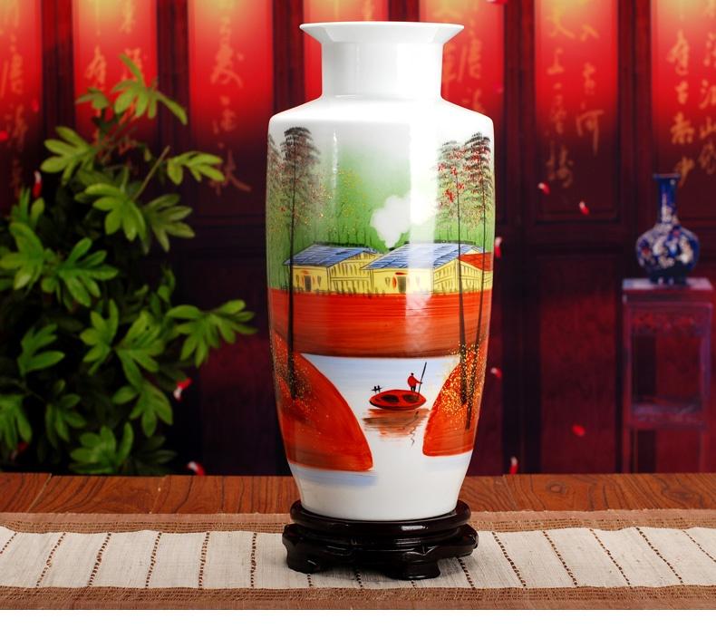 景德镇陶瓷花瓶(江南小乡)