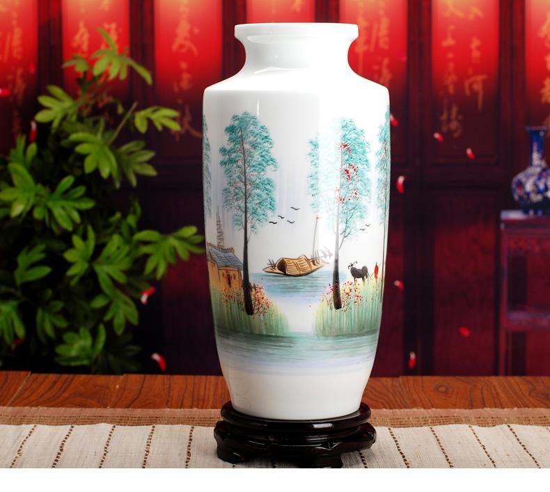 景德镇陶瓷花瓶(乡情)