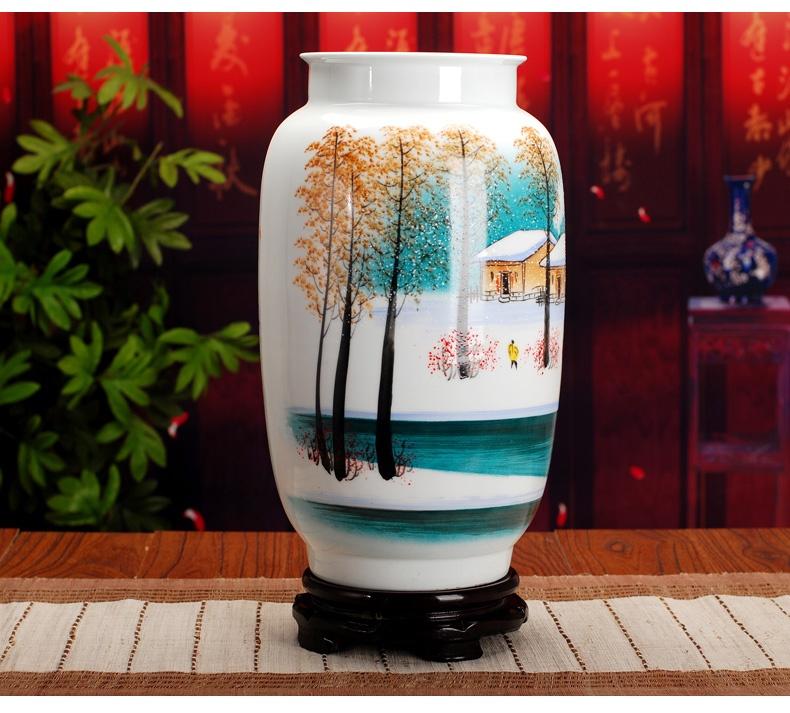 景德镇陶瓷花瓶(冬情)