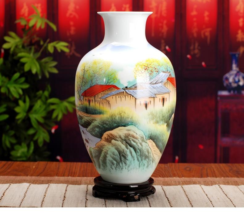 景德镇陶瓷花瓶(山里人家)