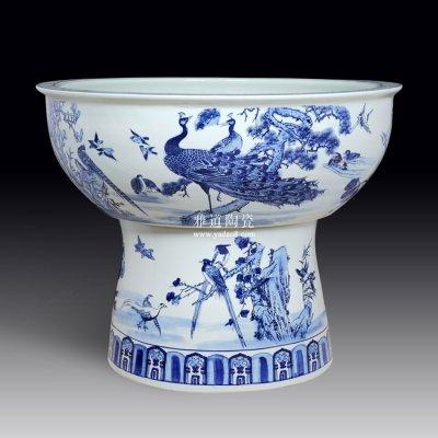 景德镇手绘陶瓷荷花大缸