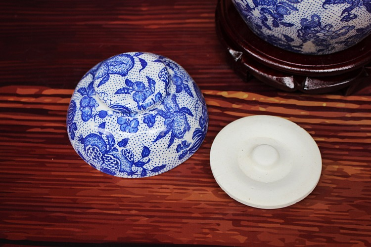 景德镇陶瓷泡菜坛-盖子