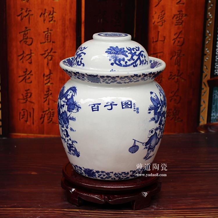 陶瓷腌菜坛子-背面