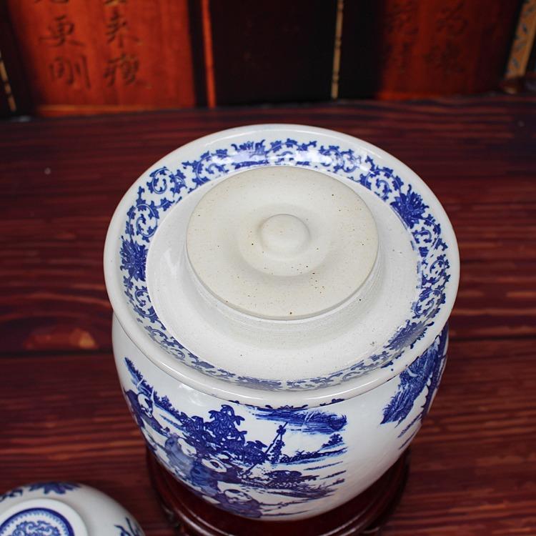 陶瓷腌菜坛子-俯视