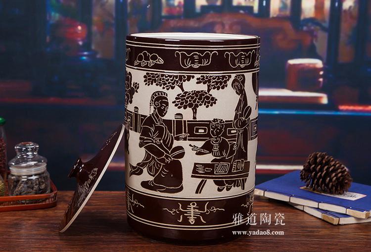 30斤陶瓷米坛-主图