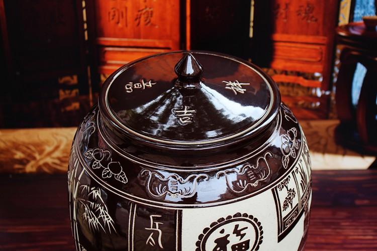 景德镇陶瓷米缸米桶-盖子