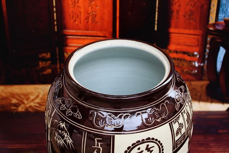 景德镇陶瓷米缸米桶-口部