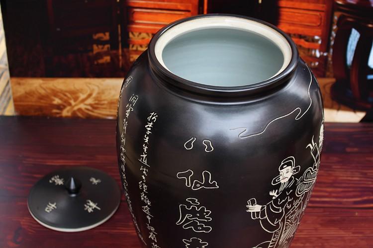 陶瓷带盖米缸储米罐子-细节图