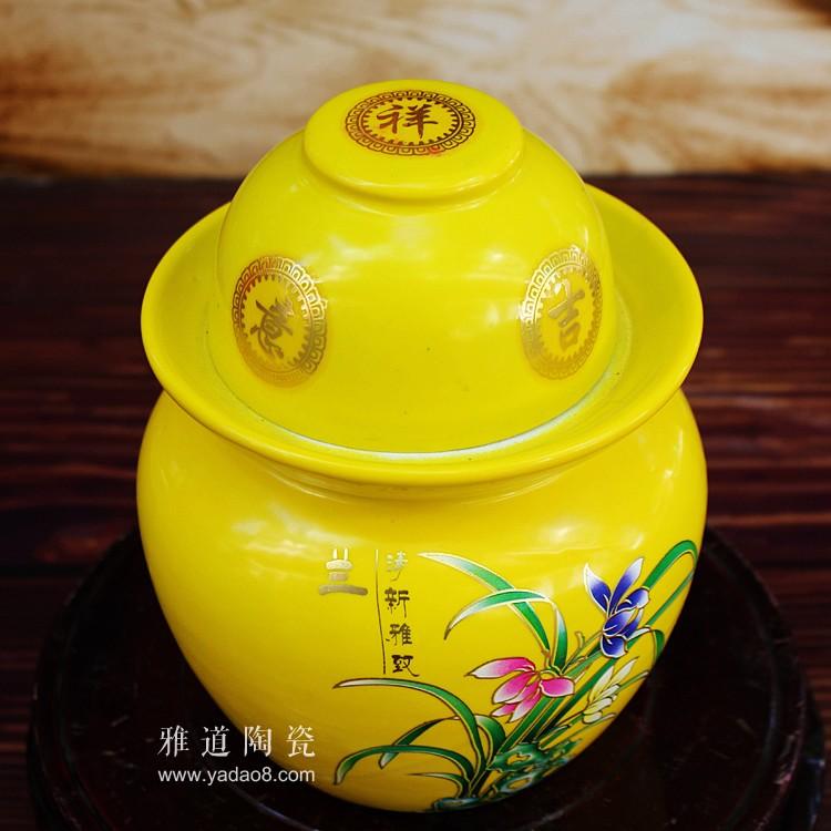 景德镇陶瓷4斤泡菜坛子-盖子