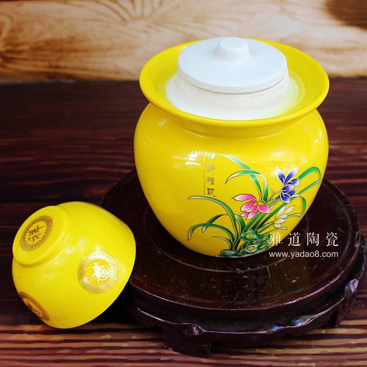 景德镇陶瓷4斤泡菜坛子-水槽